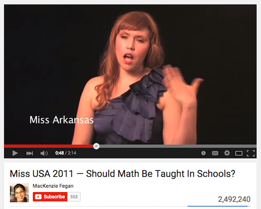 Miss USA on Math
