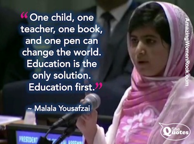 Malala one child at UN