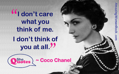 Coco Chanel I dont think of you