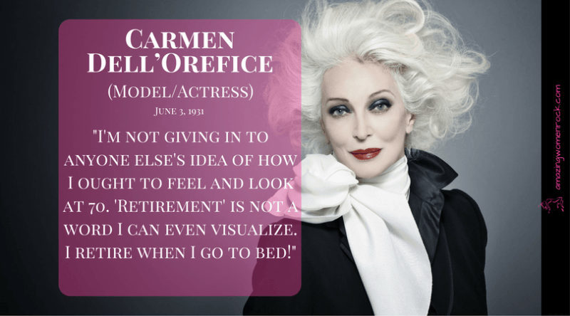 Carmen Dell'Orefice (Model/Actress)