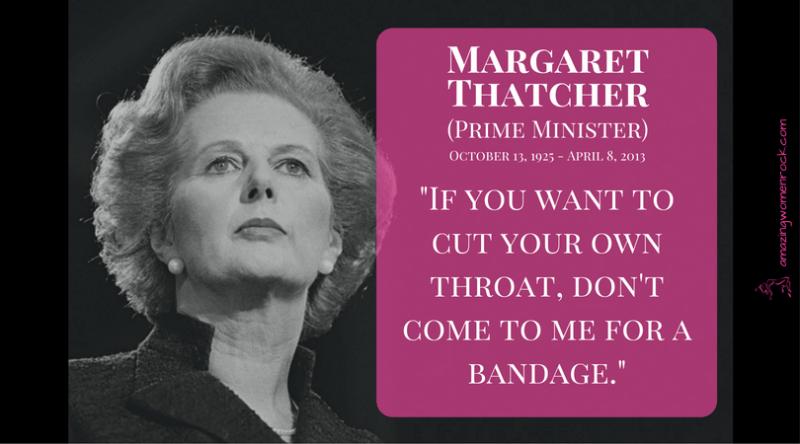 Margaret Thatcher (First Female British PM)