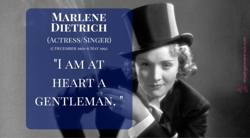 Marlene Dietrich (Actress/Singer)