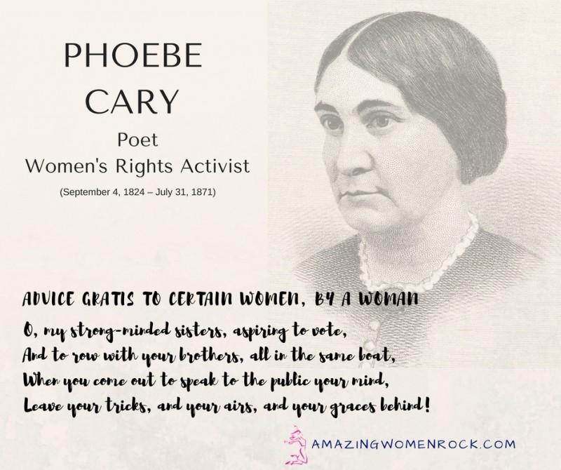Phoebe Cary (Poet/Women's Rights Activist)