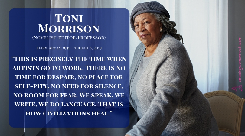 toni morrison novels are known for In february 18, 1931 the world would welcome chloe wofford, who would later be known as the prolific american author, toni morrison growing up in an integrated community in ohio, morrison spent most of her time reading the european classics and studying latin.